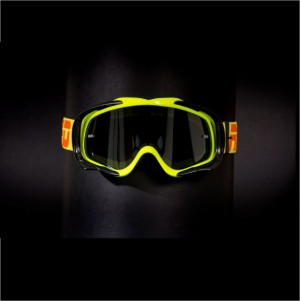 RED tear off goggles TYFOON 112 - FLO YELLOW