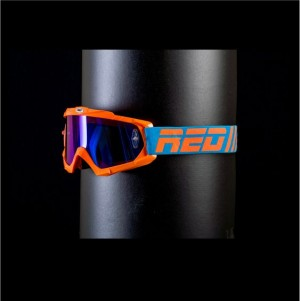 RED tear off goggles HURRICANE 115 - ORANGE