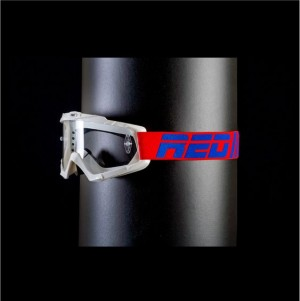 RED tear off goggles HURRICANE 115 - WHITE