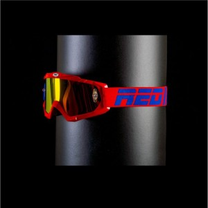 RED tear off goggles HURRICANE 115 - PATRIOT