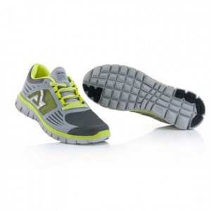 CORPORATE RUNNING SHOES - GREY/YELLOW