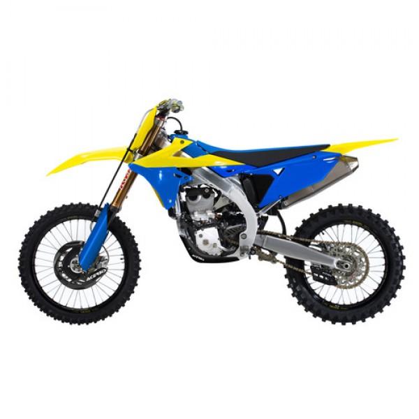 full kit plastics suzuki rmz 450 18 19 yellow blue. Black Bedroom Furniture Sets. Home Design Ideas