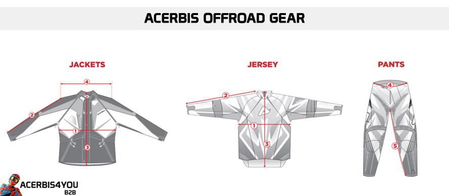 Chart acerbis offroad gear